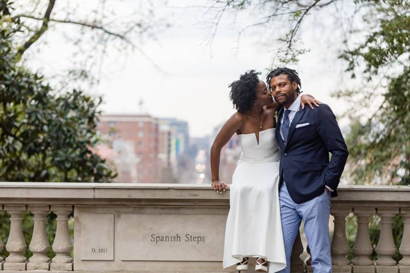 Washington DC Spanish Steps Wedding