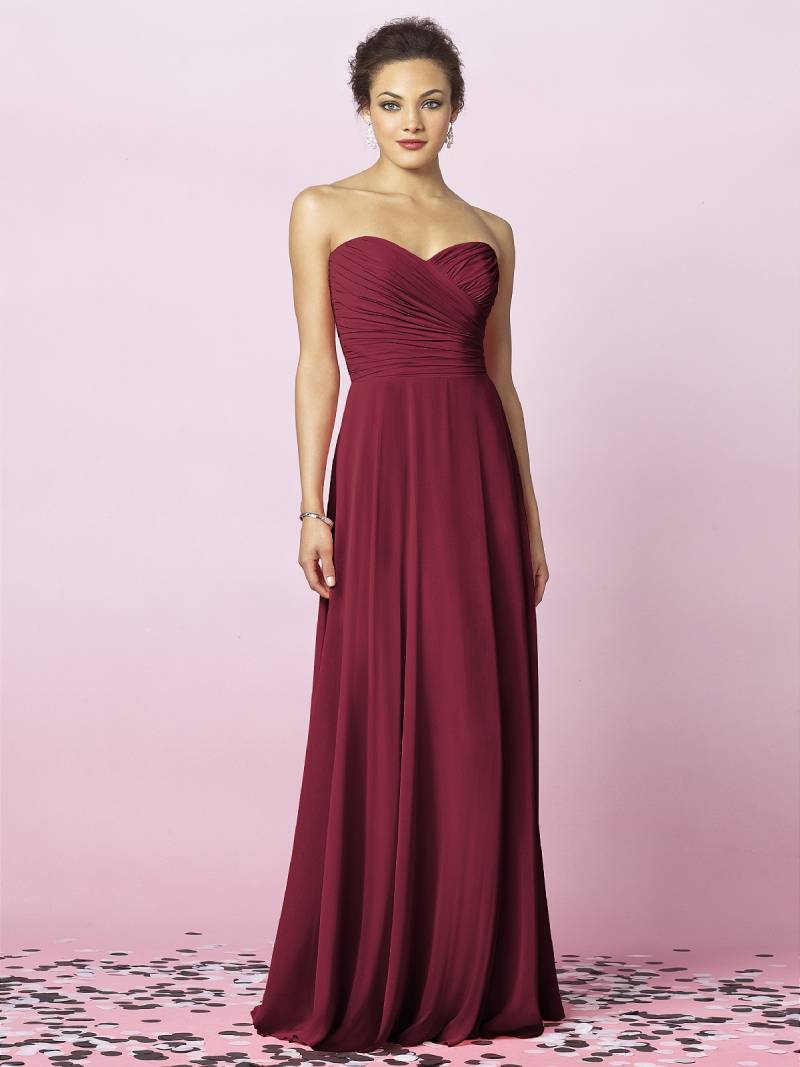Regal in red valentines day inspired bridesmaid dresses with after six style 6639 in burgundy lux chiffon 236 ombrellifo Image collections