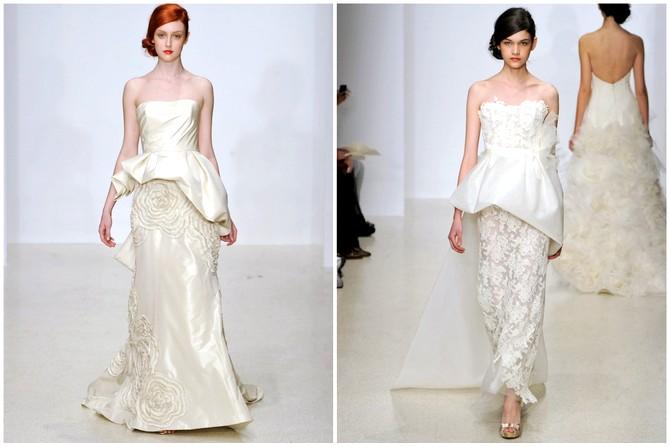 The Peplum Wedding Dress Trend