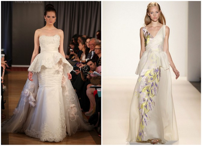 The Peplum Wedding Dress Trend