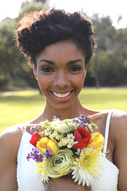 Natural Hair Bridal Inspiration - Blackbride.com