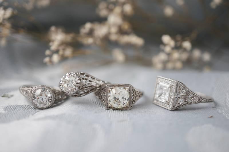 Vintage Rings Minnesota Wedding Fashion