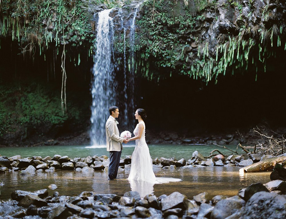 An Amazing Waterfall Wedding