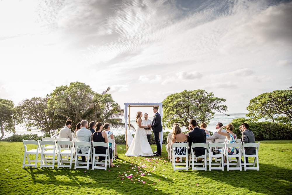 Intimate Seaside Destination Wedding At Turtle Bay Resort Gallery Item 5