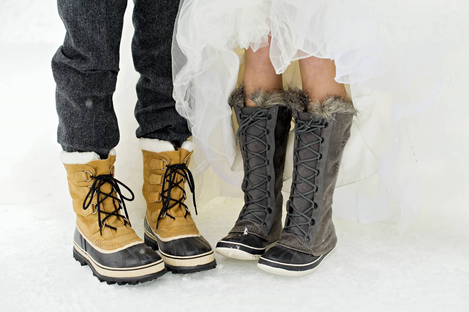 If You Are Asking Your Wedding Party To Step Outside For Winter Photos Then Ask Them Bring Cute Boots And Thermal Leggings With