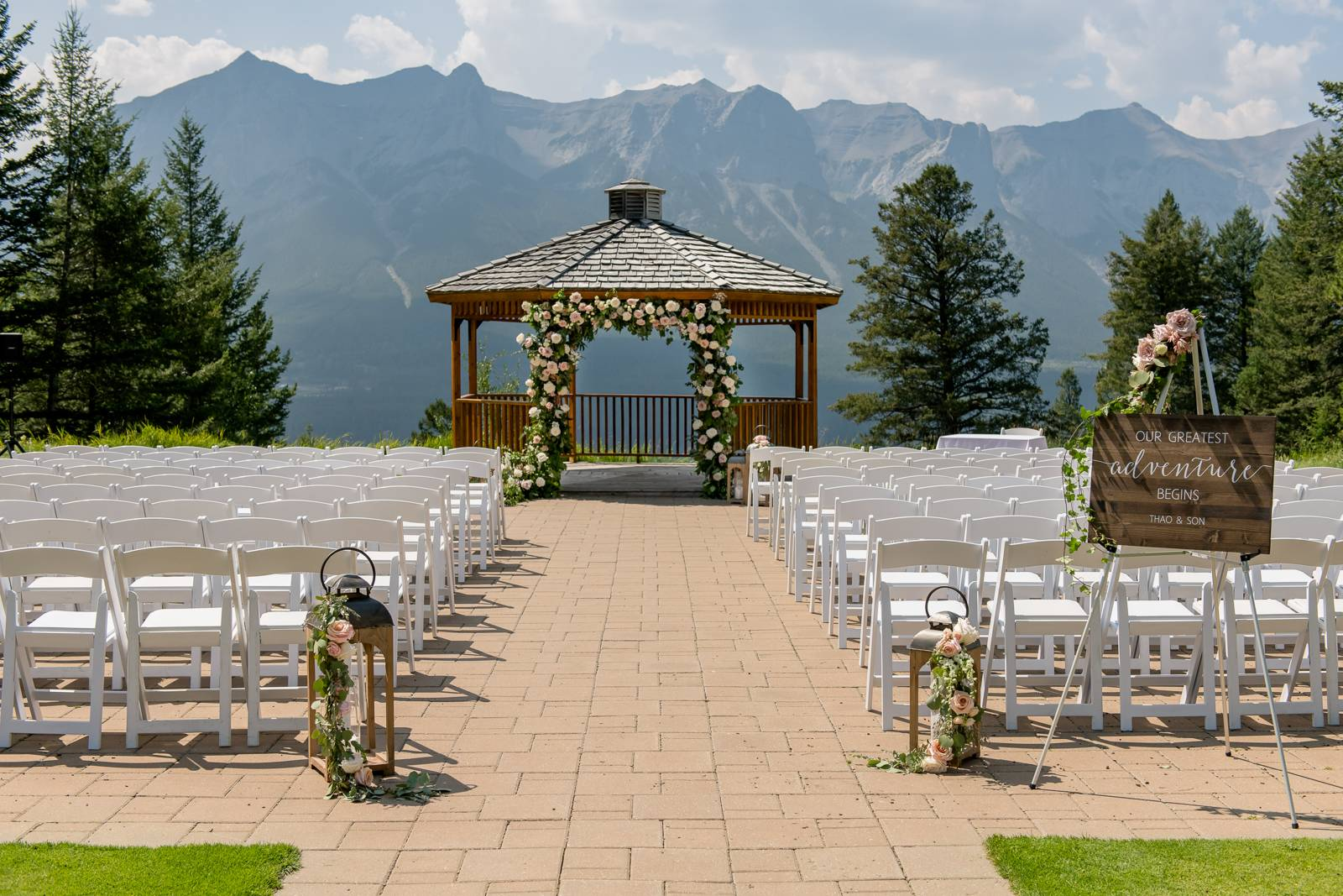 Silvertip Resort Gazebo ceremony