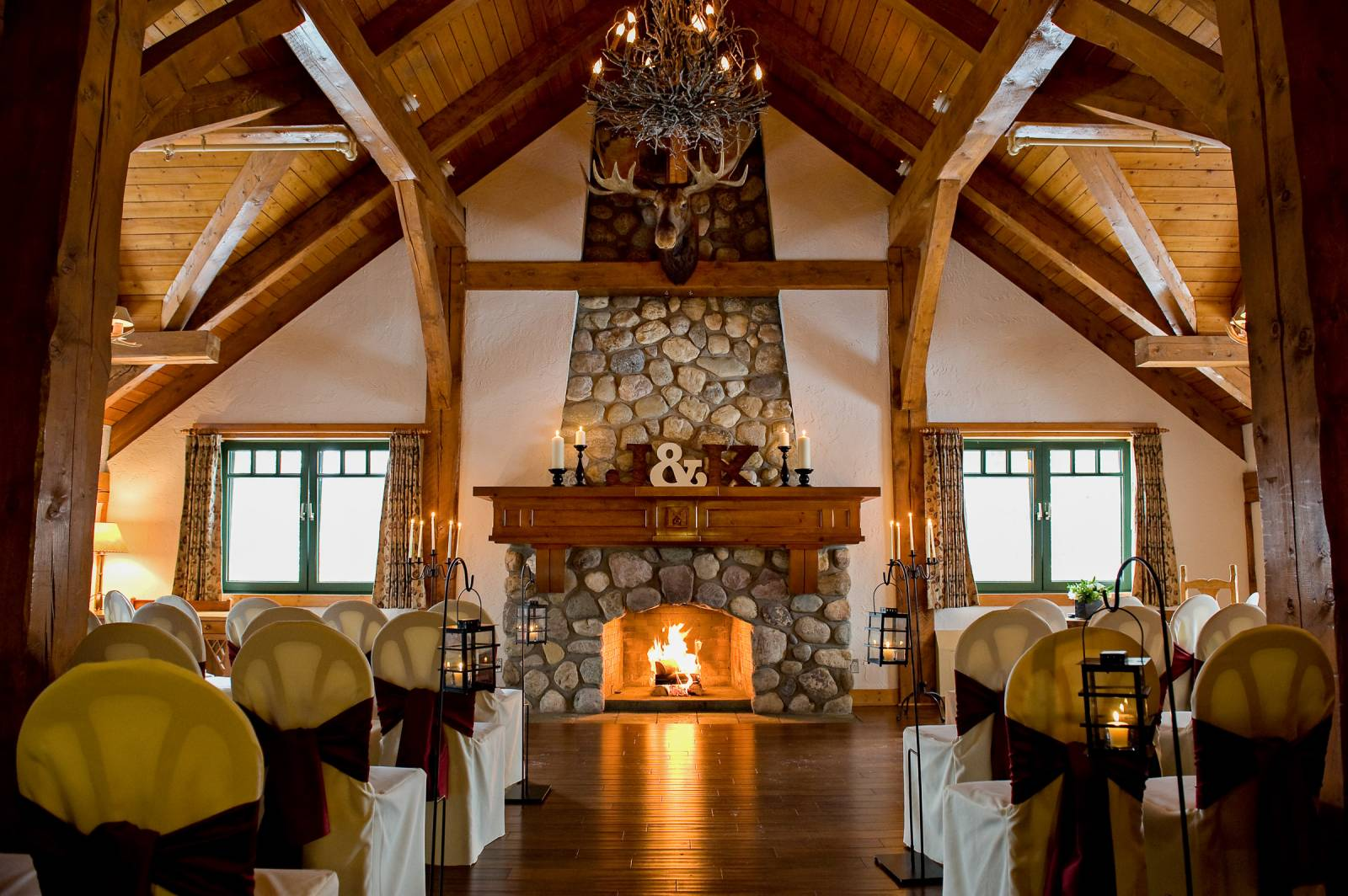 The Fireplace In Library Is Focal Point For Ceremonies