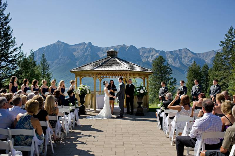 Silvertip Gazebo, Canmore Wedding Venue, Silvertip wedding