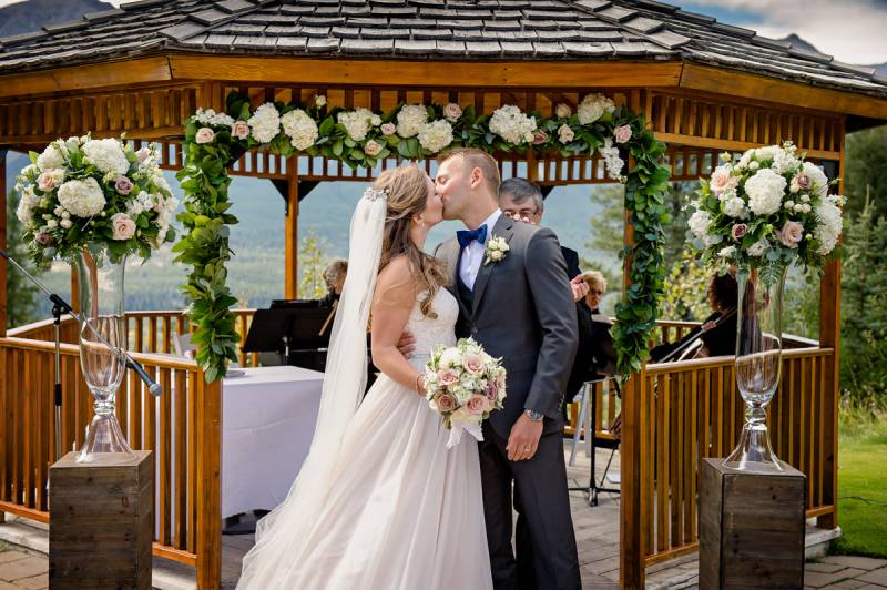 Silvertip S Private Gazebo Can Be Ed For Your Outdoor Ceremony And Offers Stunning Views Guests You Are Also Permitted To Personalize