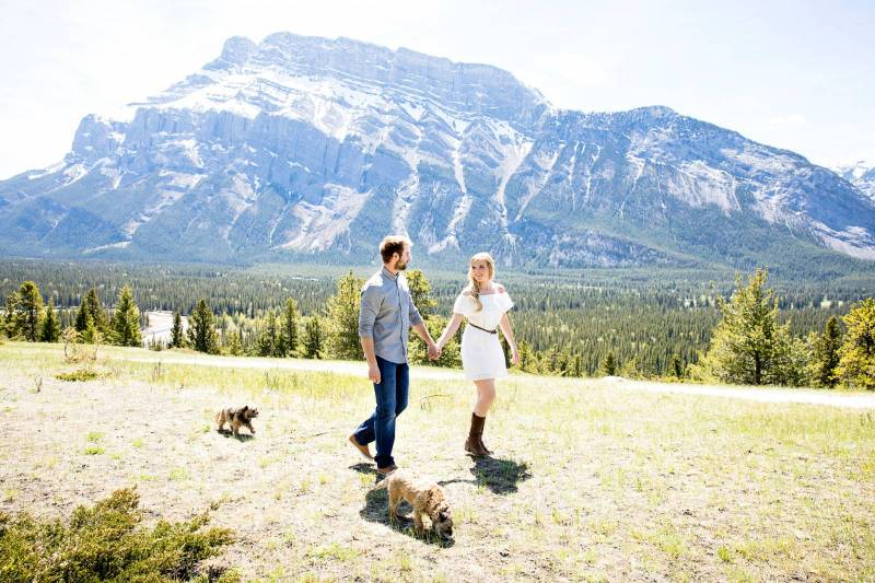 Banff engagement session, mountain engagement session, summer engagement session, engagement session
