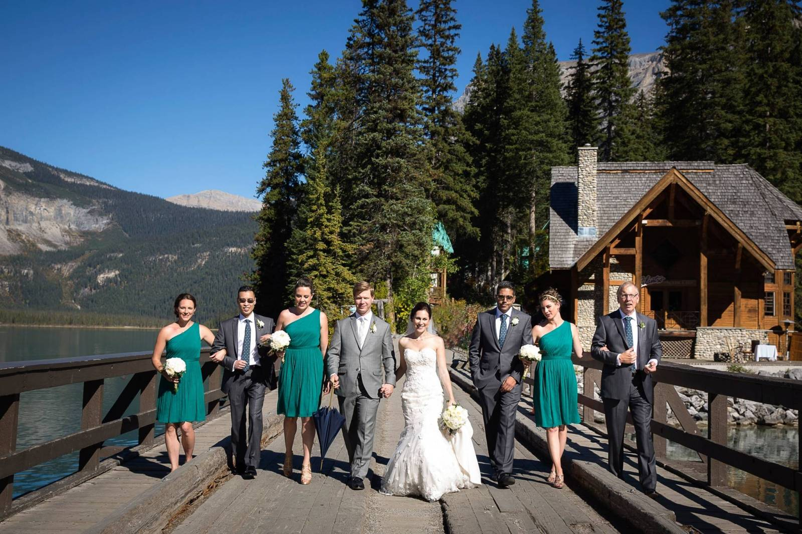 Outdoor Summer Wedding At The Gorgeous Emerald Lake Lodge In Field Bc Photography Item 43