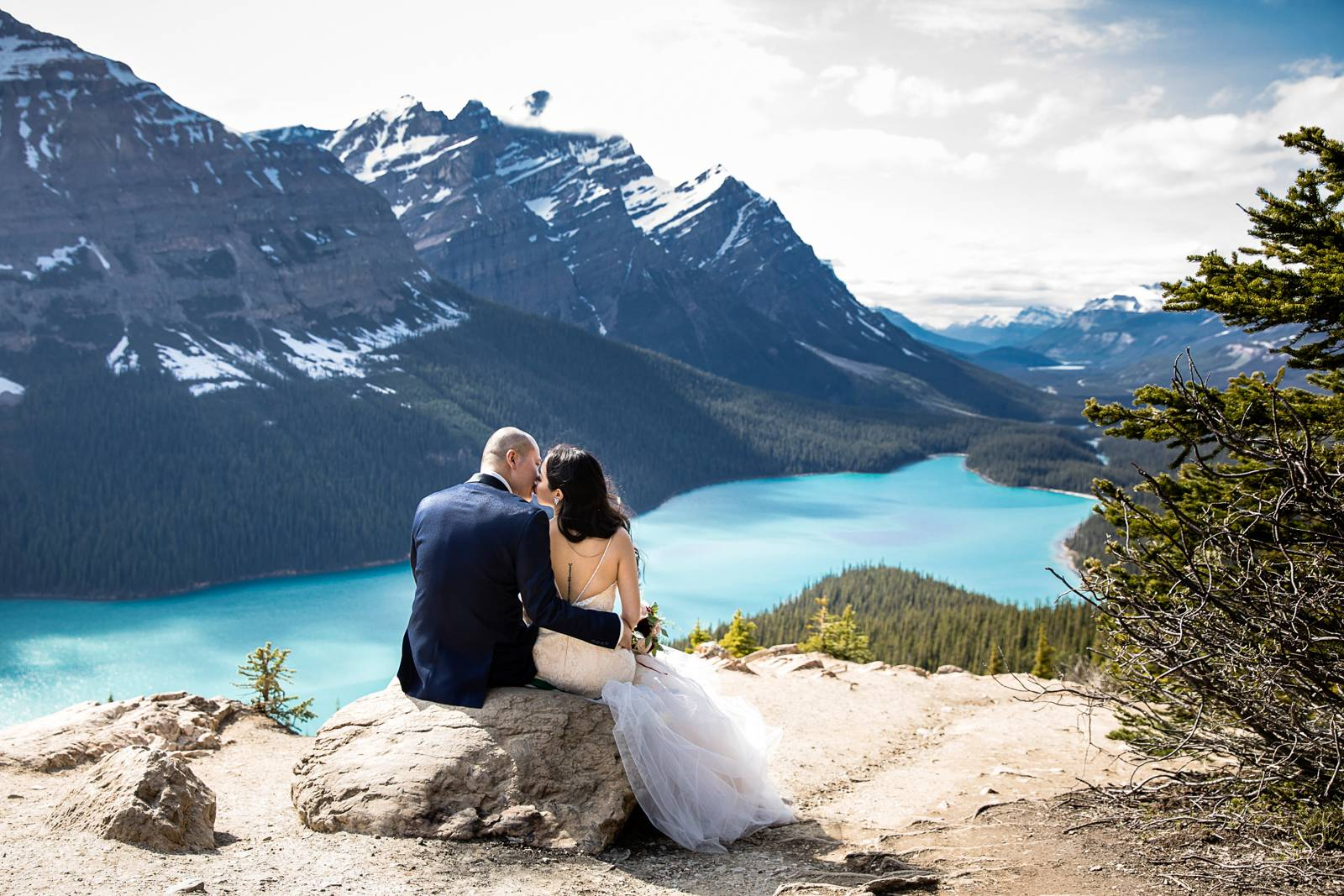 Banff Canmore Lake Louise Calgary Rocky Mountain Wedding: Bride And Groom Rocky Mountain Photo Session