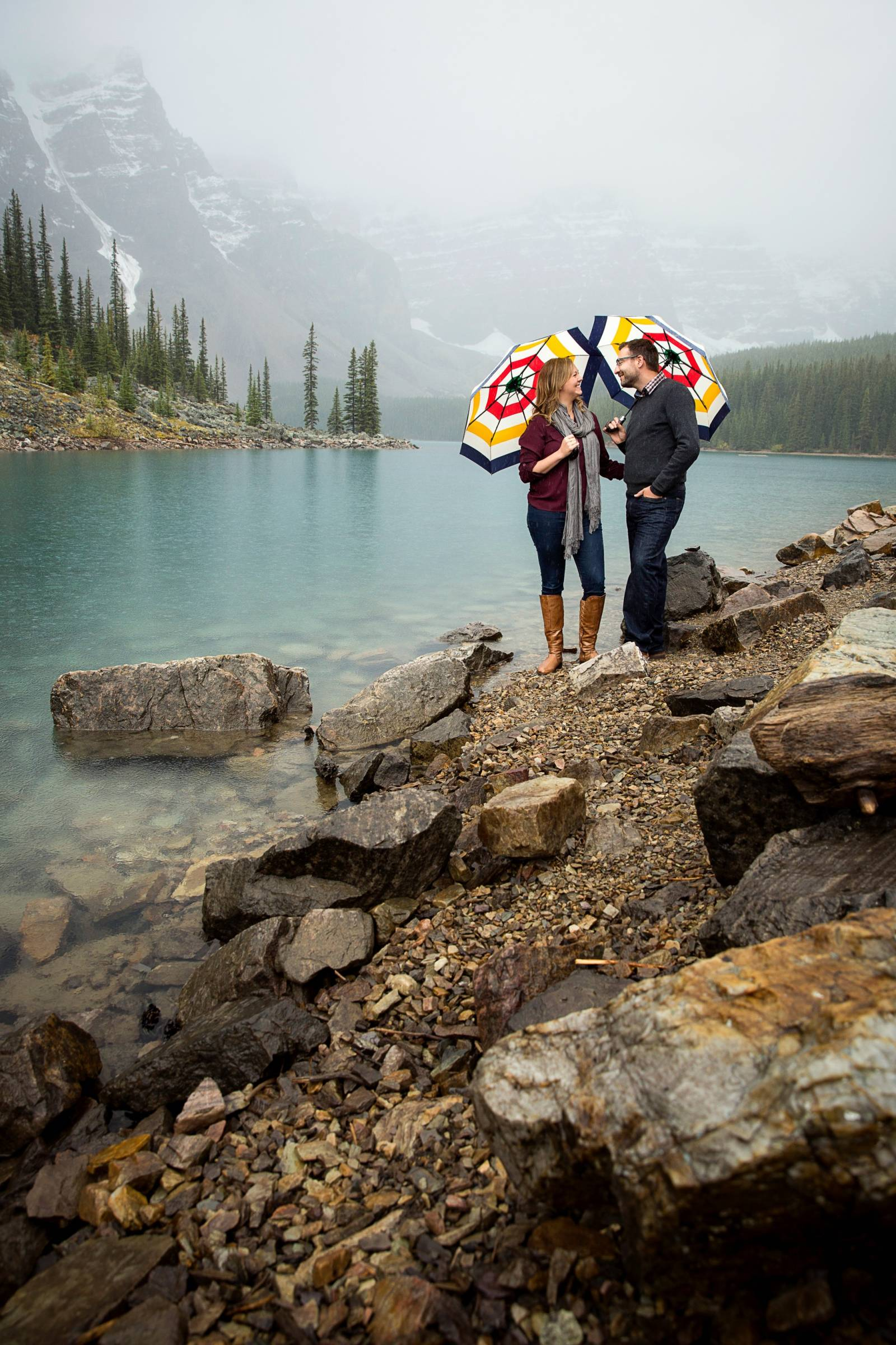 Moraine Lake Engagement, Moraine Lake Engagement Photographer, Banff engagement photographer, mounta