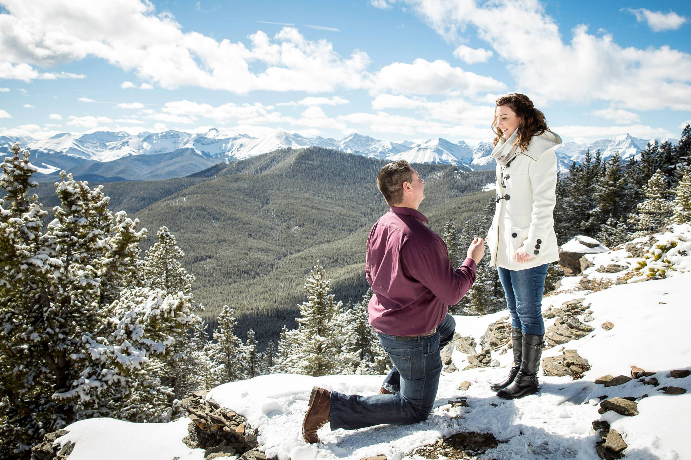 Heli Proposal, Kananaskis proposal, mountain top proposal, Banff Proposal, Banff wedding photographe