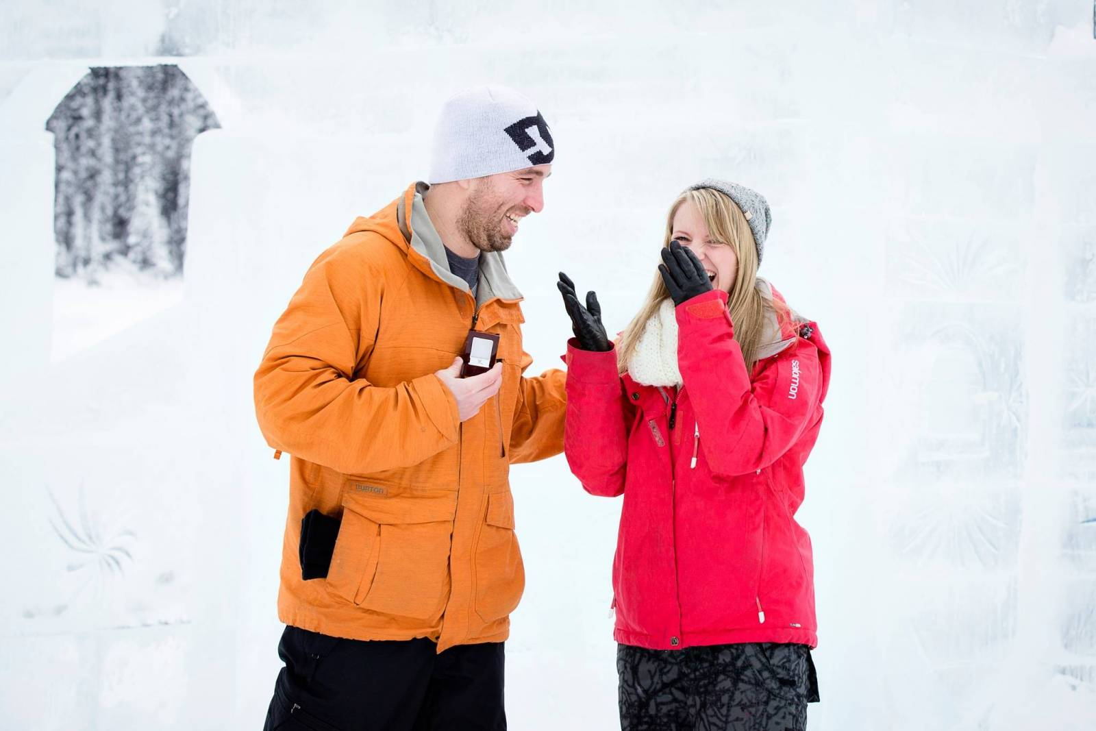 Lake Louise Proposal, Winter Proposal, Surprise Proposal, Lake Louise Engagement, Banff Proposal, Ba
