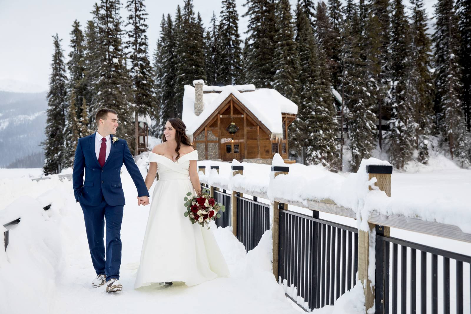 Emerald Lake Lodge Outdoor ceremony, Cilantro Patio Wedding Ceremony, Emerald Lake Lodge winter elop